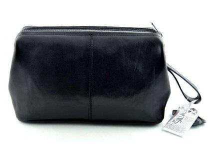 Luxusní cestovní kožená etue Silvercase - černá