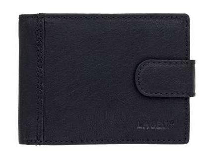 Pánská peněženka Lagen s přezkou - černá