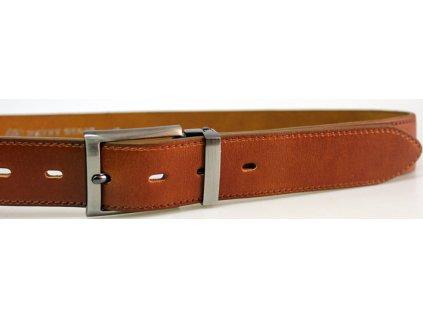 Společenský hnědorezavý kožený opasek - Penny Belts