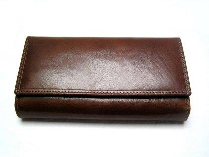 Luxusní dámská peněženka hnědá