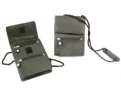 Kožená příruční dokladová tašička ARWEL - černá
