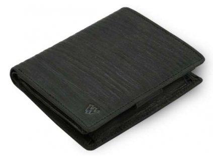 Kožená peněženka Bamboo Arwel - černá