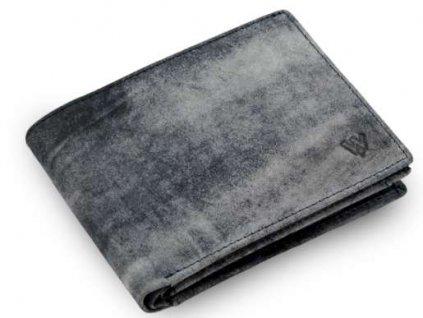 Modrá kožená peněženka Arwel - jeans