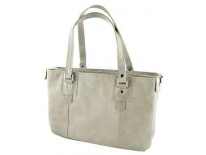 Dvojitá kožená kabelka Silvercase - bříza