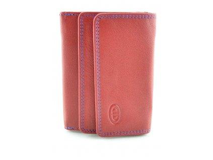 Malá kožená peněženka - červená