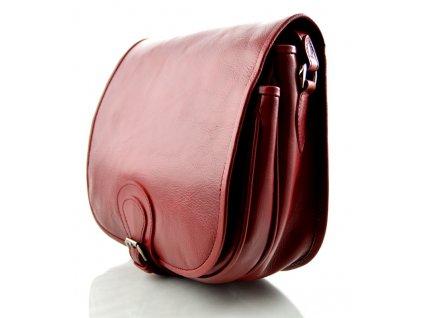 Klopnová lovecká kožená taška Silvercase - bordo