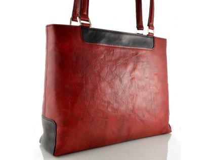Elegantní kožená kabelka Silvercase - vínová