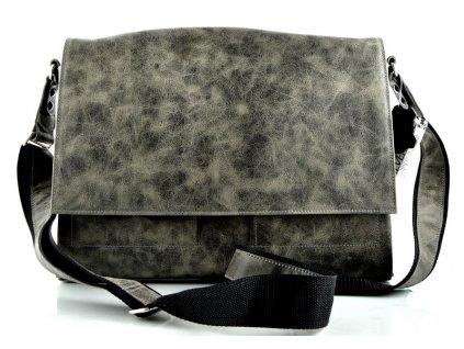 Klopnová taška přes remeno Silvercase - zelenošedá