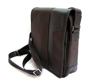 Klopnová cestovní taška přes rameno - hnědá