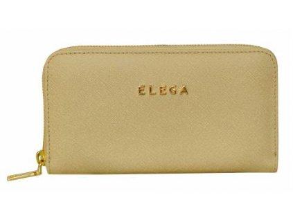 Kožená peněženka ELEGA - béžová
