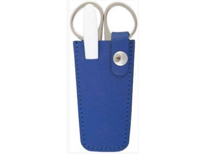 Mini kožená manikúra  DUP - modrá