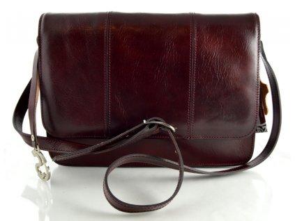 Klopnová kožená taška Silvercase - rubín