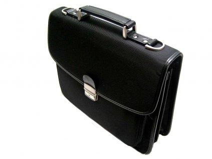 Textilní manažerská aktovka - černá