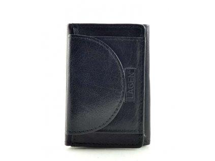 Mini kožená peněženka Lagen - černá