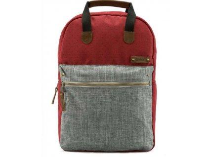 Textilní batoh G.ride France - červeno šedý