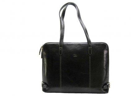 Kožená kabelka KATANA - černá