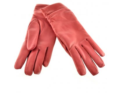 Kožené rukavice  - červené