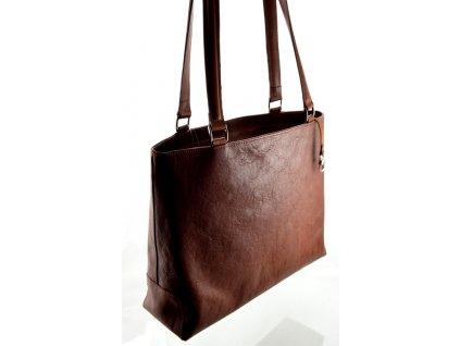 Elegantní kožená kabelka Silvercase - hnědá přírodní kůže