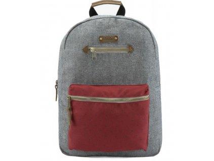 Textilní batoh G.ride France - šedo červený