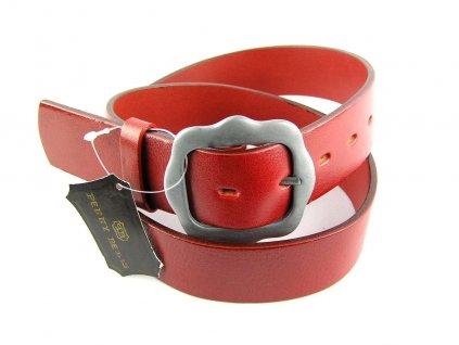 Červený kožený dámský opasek - Penny Belts