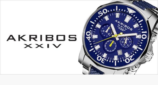 Akribos XXIV - americké ocelové hodinky se švýcarským strojkem