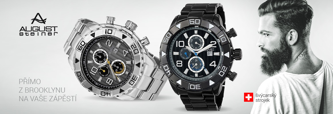 Pánské velké hodinky s funkcemi, švýcarský strojek