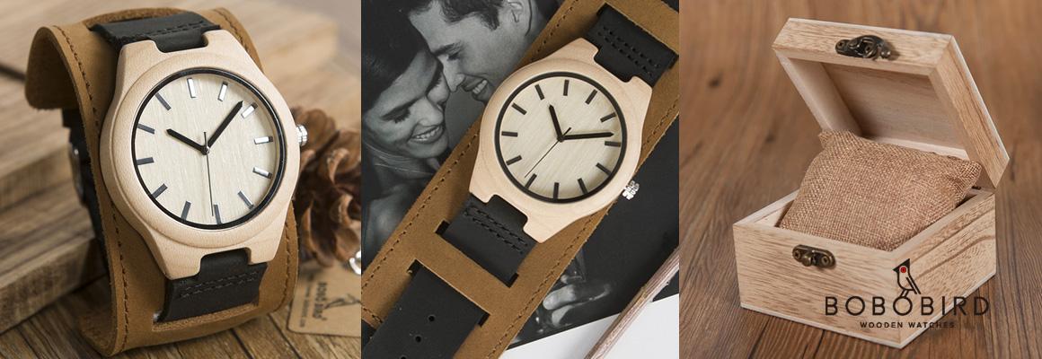 Pánské dřevěné vintage hodinky BoboBird
