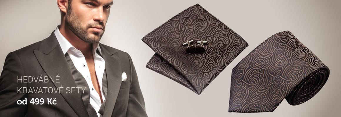 Kravatové sety, hedvábné kravaty