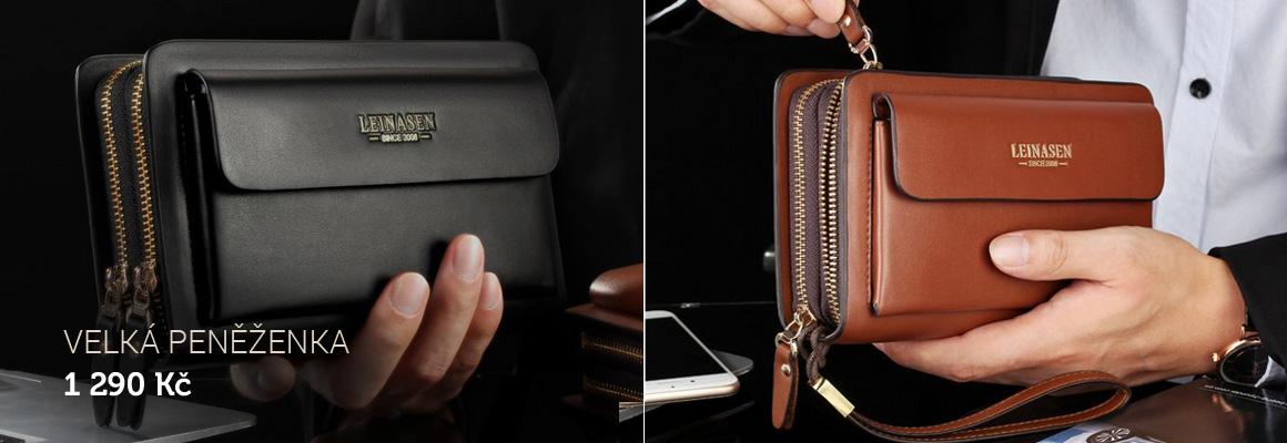 Velká pánská příruční peněženka kožená - Leinasen