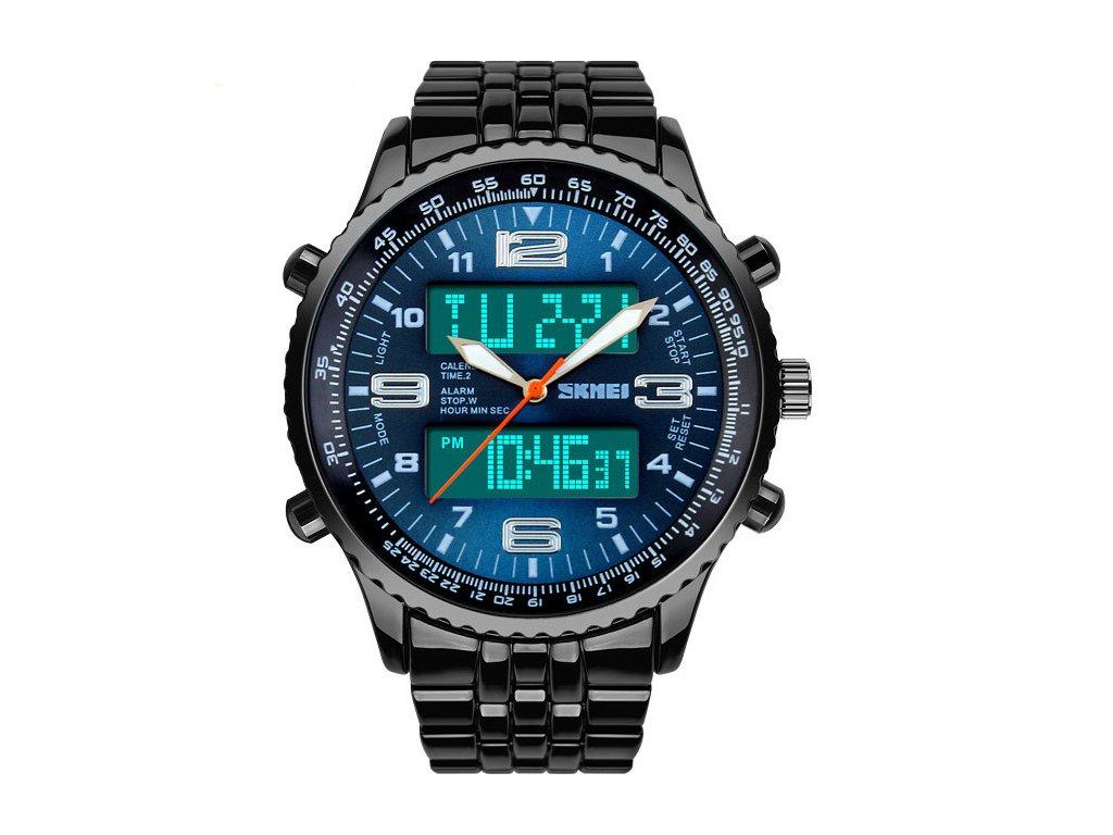 868b3f14ee Atraktivní a stylové hodinky celokovové Skmei - datum