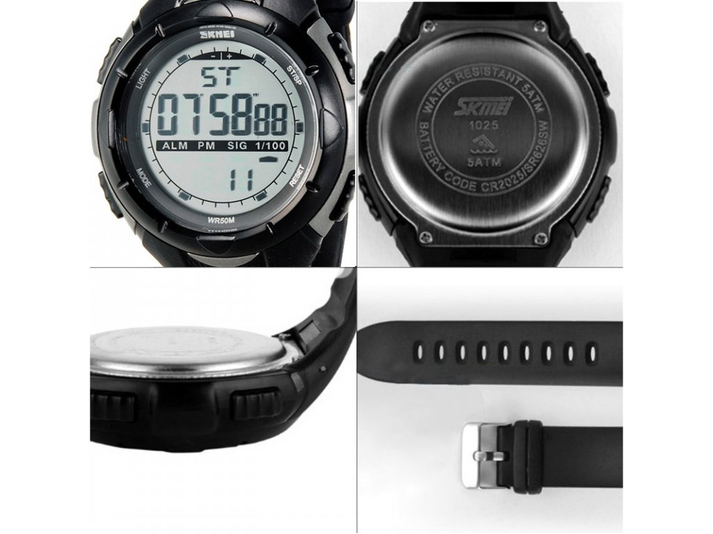 ... chronograf Sportovní hodinky Skmei odolné z PU - čas 863b2720f78