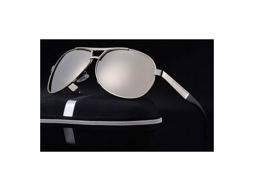 cb06ca5e3 Set: Atraktivní sluneční brýle Las Vegas - stříbrné zrcadlové ...