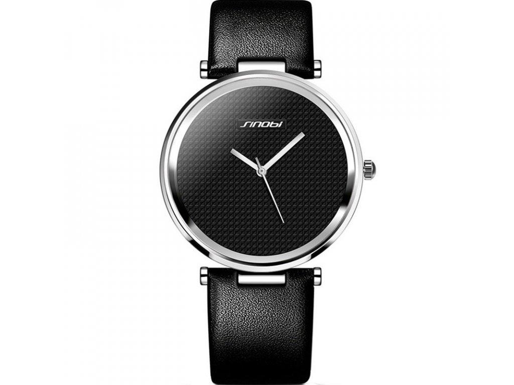 Atraktivní dámské hodinky ultra tenké zn. Sinobi - černé - Elegans.cz faf51b6bf4d