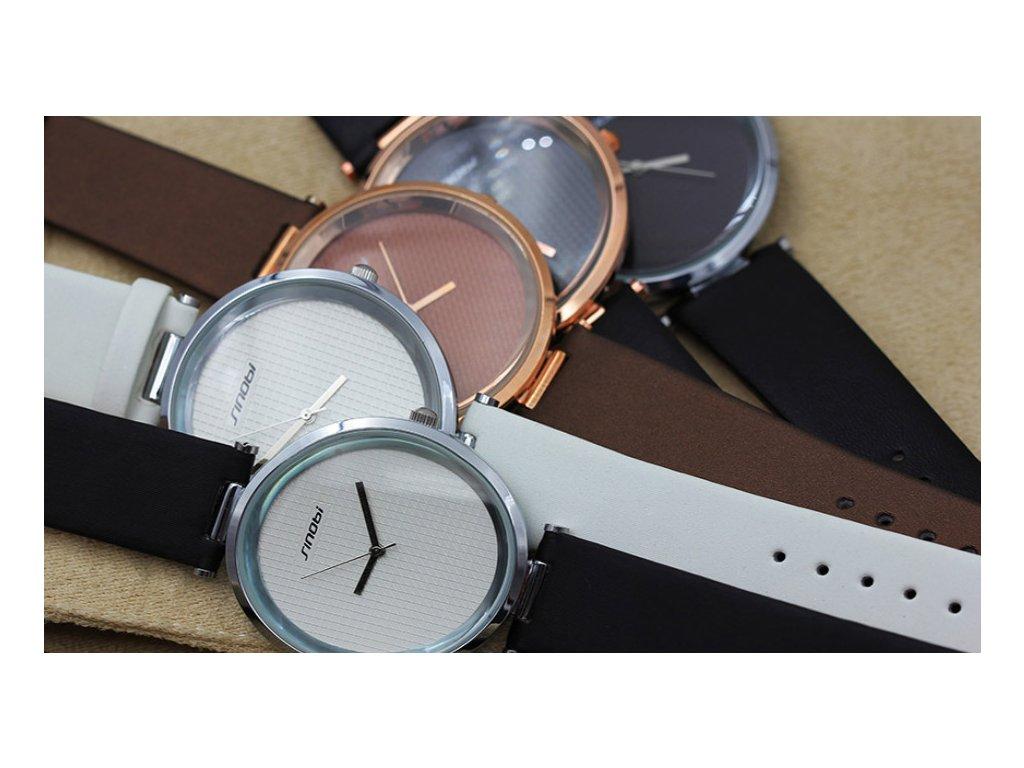 Atraktivní dámské hodinky ultra tenké zn. Sinobi - bílé - Elegans.cz f8a702c6676