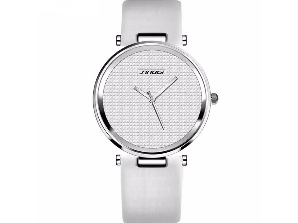 Atraktivní dámské hodinky ultra tenké zn. Sinobi - bílé - Elegans.cz 2d37ac5eda