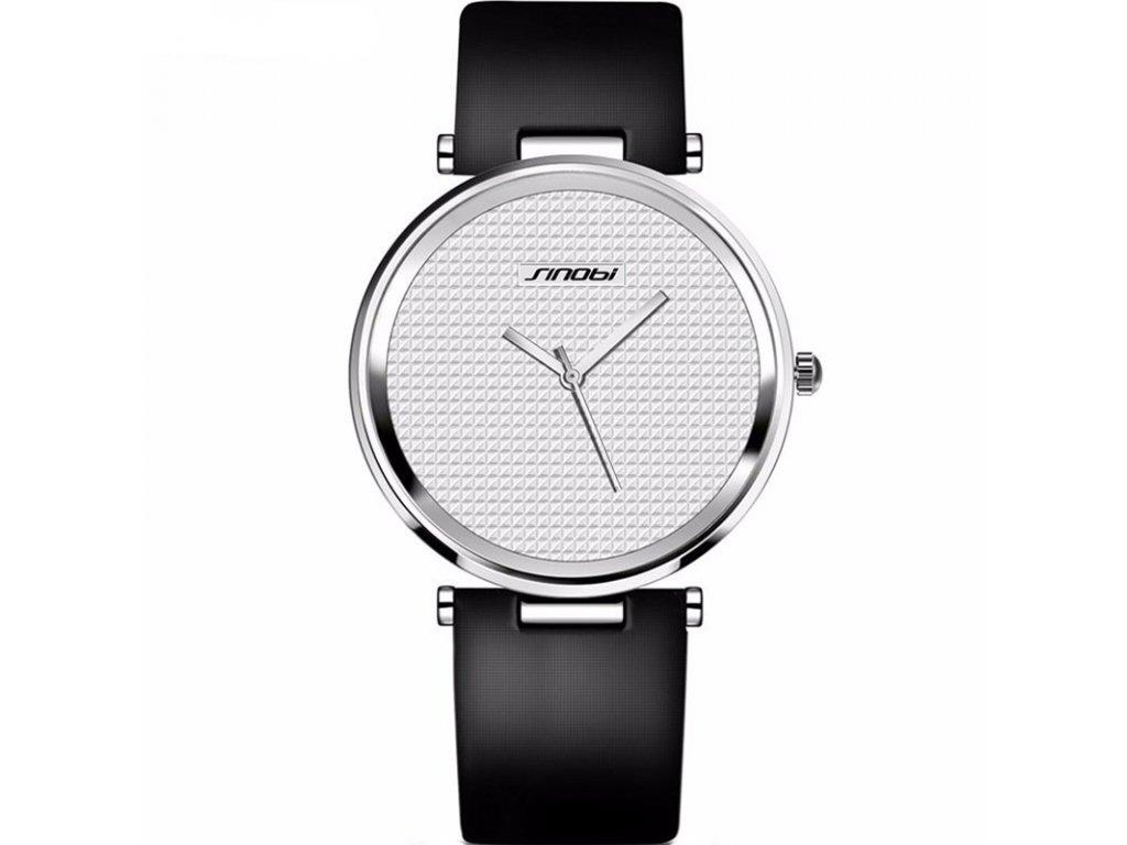 Atraktivní dámské hodinky ultra tenké zn. Sinobi - černobílé ... ef6998b8387