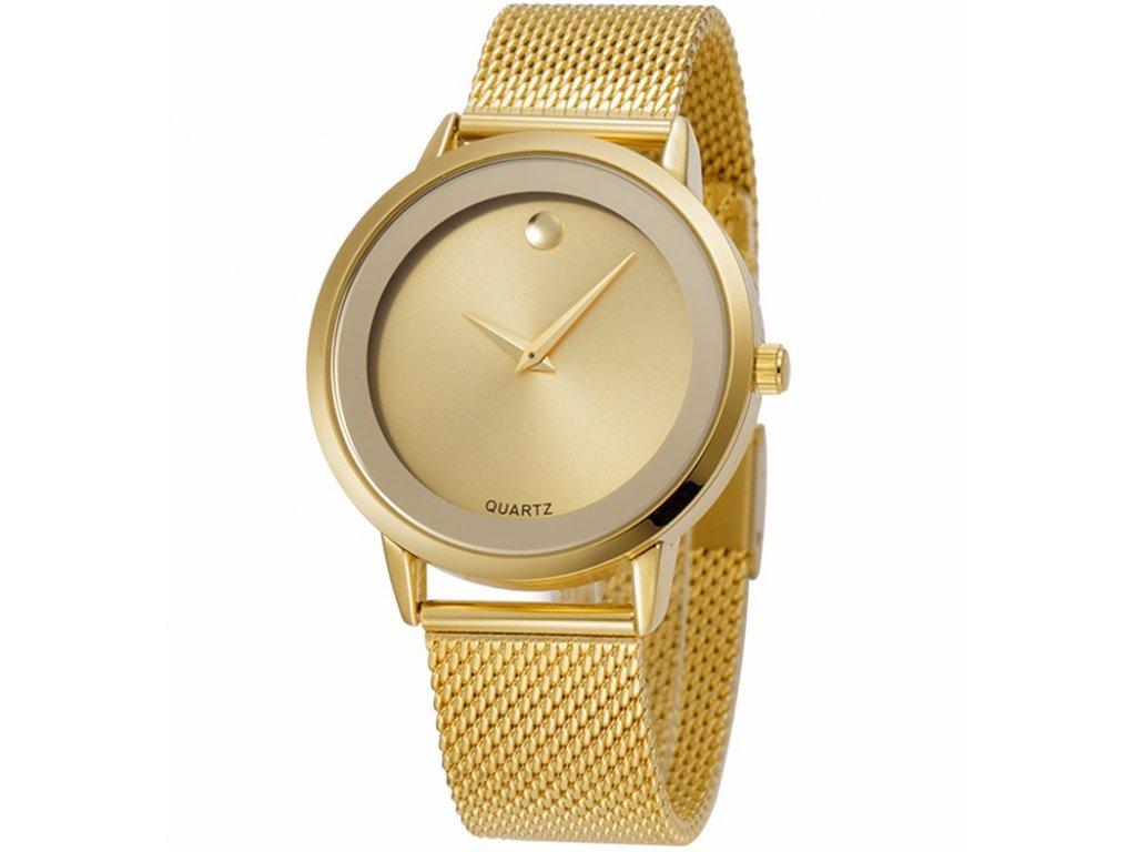 2f42d1c6d38 Atraktivní dámské hodinky zn. Belbi - velké zlaté - Elegans.cz