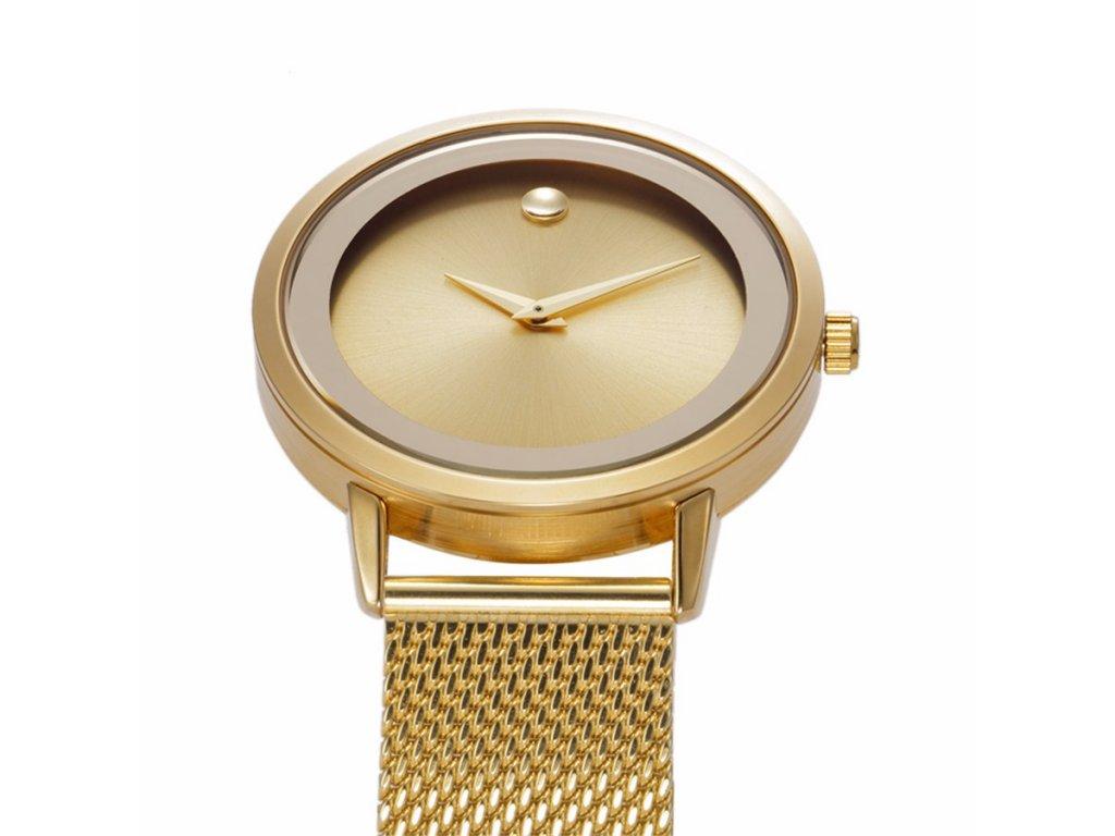 Atraktivní dámské hodinky zn. Belbi - velké zlaté - Elegans.cz 91a90f66db0