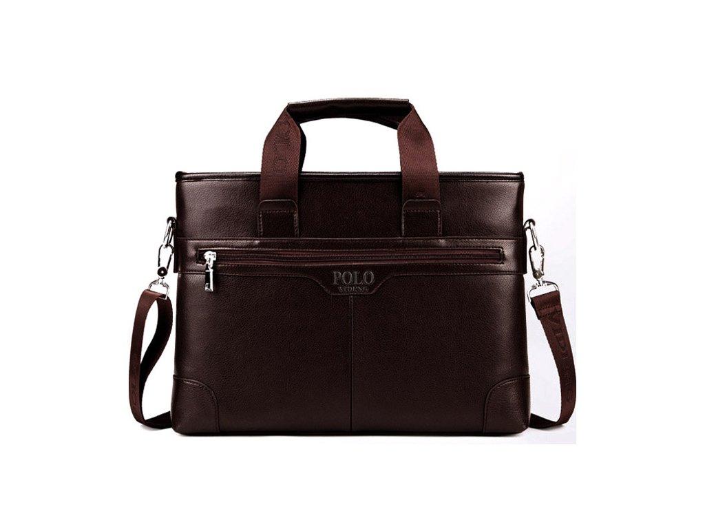 Pánská kožená taška   aktovka zn Polo - tmavě hnědá - Elegans.cz f621c8a31c0