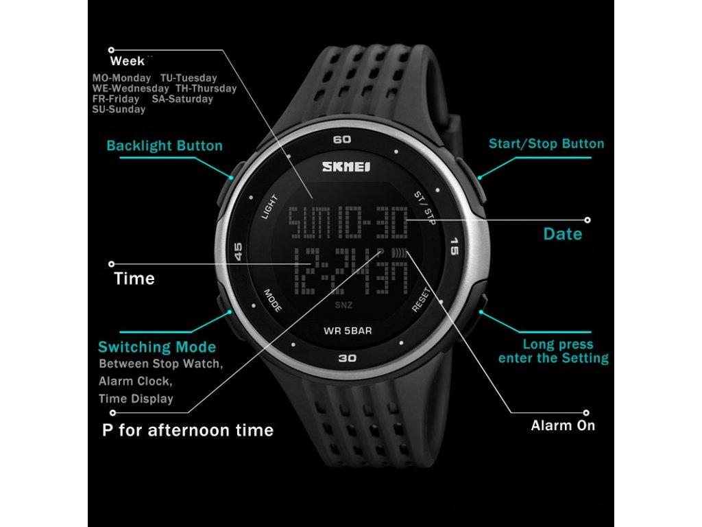 Sportovní hodinky Skmei odolné z PU zlaté - čas 0d8e8a7072e