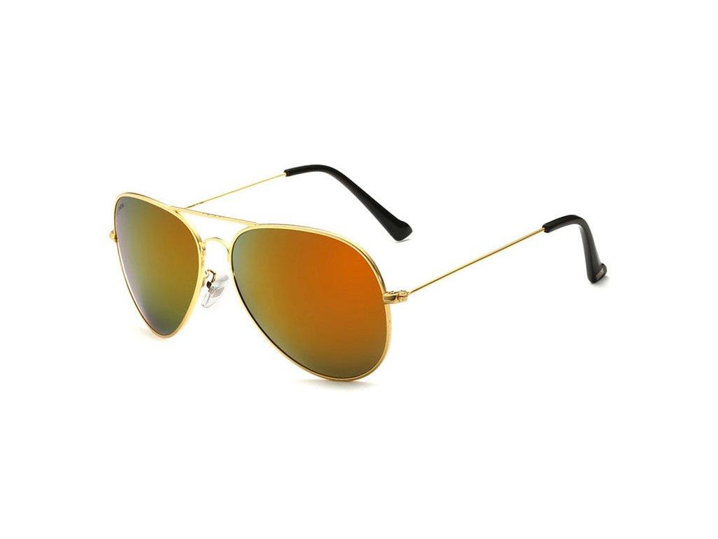 4d4e26831 Sluneční brýle Aviator polarizační - zlaté zrcadlové - Elegans.cz