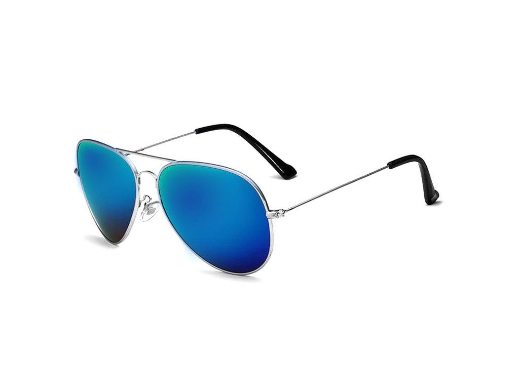 f5b72b6b1 Sluneční brýle Aviator - modré stříbrné zrcadlové - Elegans.cz