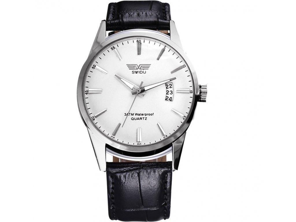 Módní pánské hodinky Swidu elegantní s datumem - bílé - Elegans.cz 42bdce3f59
