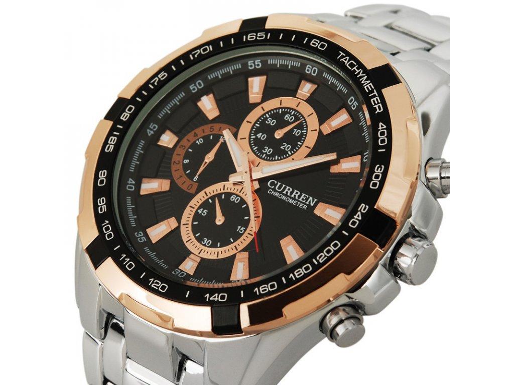 ... hodinky curren stribrno zlate hodinky curren curren zlate stribrne  velke panske hodinky Hodinky Curren 8023 celokovové ... 08c5571aaee