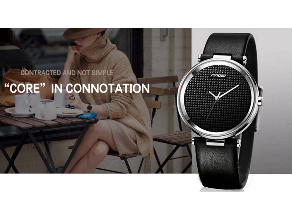 Atraktivní dámské hodinky ultra tenké zn. Sinobi - hnědé - Elegans.cz f2a1f4030bd