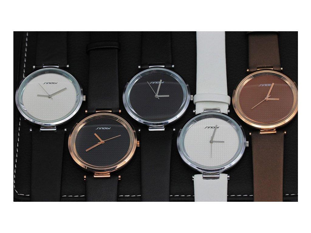 Atraktivní dámské hodinky ultra tenké zn. Sinobi - hnědé - Elegans.cz 6e4748ef5e
