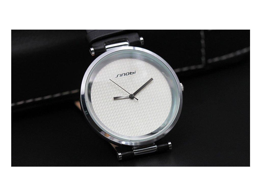 Atraktivní dámské hodinky ultra tenké zn. Sinobi - hnědé - Elegans.cz f5419605d4c