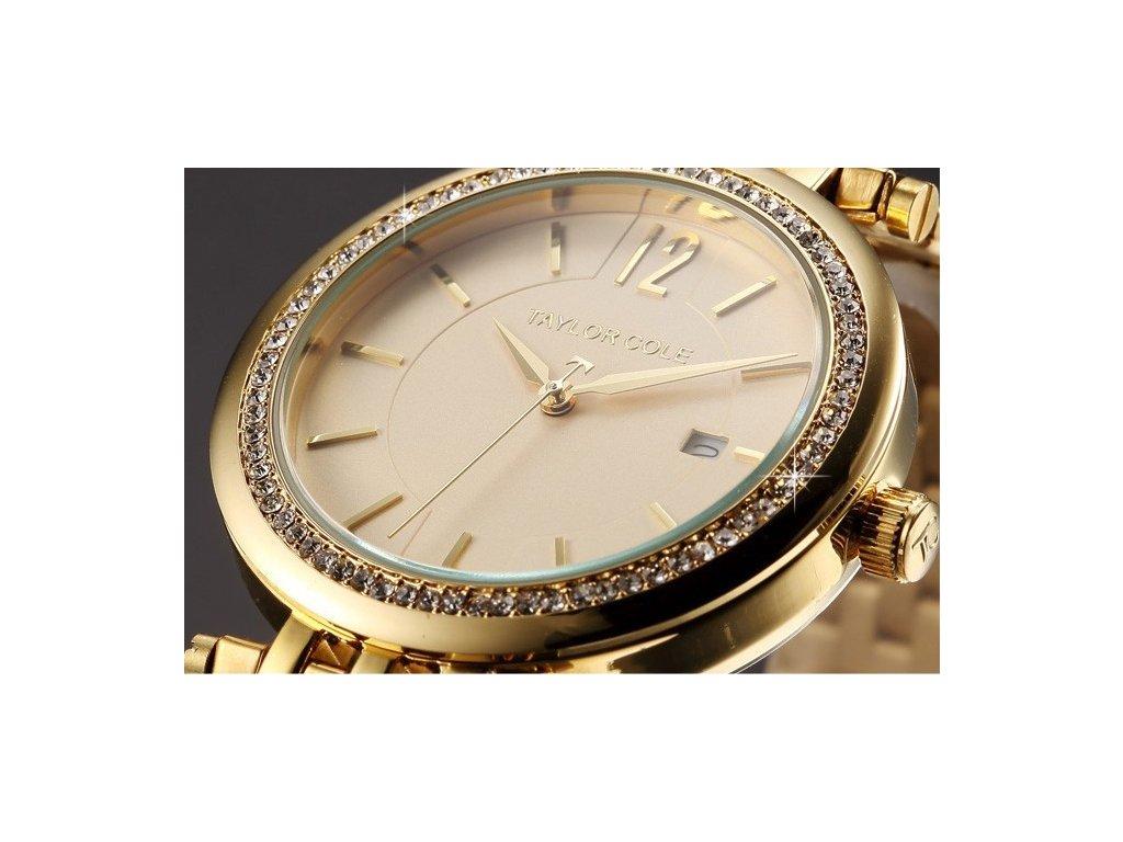 347685c82 Atraktivní dámské hodinky Taylor Cole Aglaia s datumem - zlaté ...