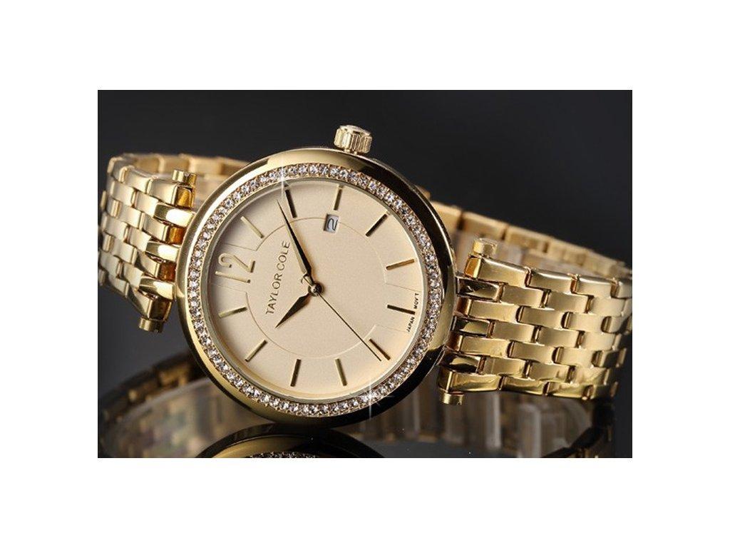 3d7636f7c37 Atraktivní dámské hodinky Taylor Cole Aglaia s datumem - zlaté ...