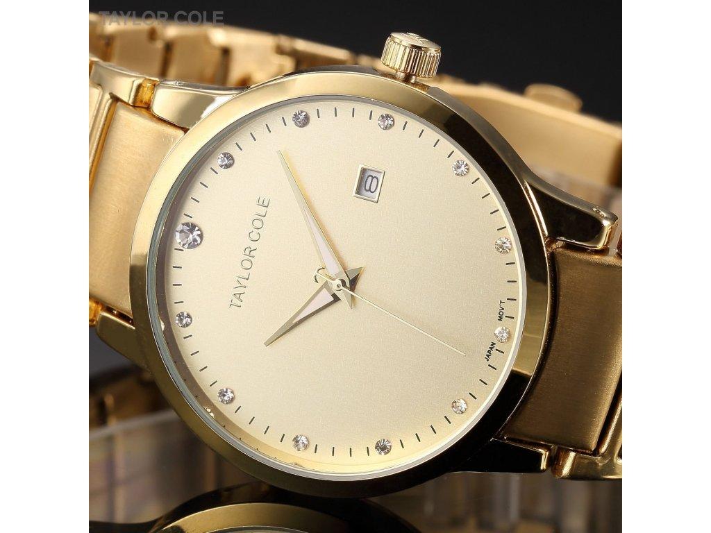 4e9e37a6c Atraktivní dámské hodinky Taylor Cole Echo s datumem - zlaté ...